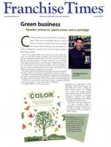 Acquired press coverage for Plant A Tree, Not a Cartridge promotion for Cartridge World