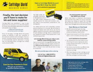 Led development of Business Direct brochure for Cartridge World