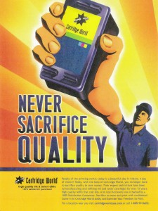 Led development of quality benefit focused print ads for Cartridge World