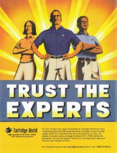 Led development of expertise benefit focused print ad for Cartridge World