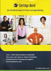 Led development of franchise sales brochure for Cartridge World