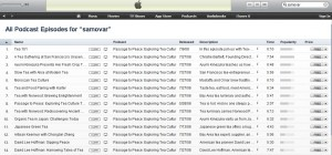 Samovar tea training podcasts at iTunes