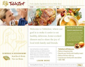TableZest Meal Assembly Retailer Website
