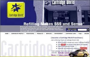 Cartridge World website before redesign