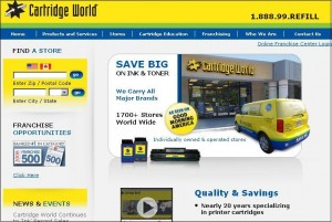 Cartridge World website after redesign