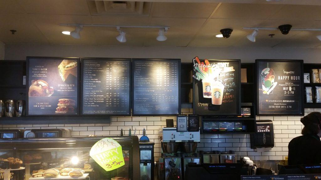 Starbucks Menu Boards